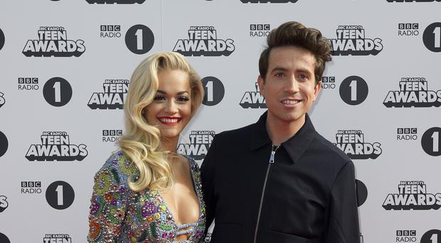 Rita Ora and Nick Grimshaw had a close encounter at Glastonbury