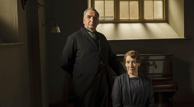 Passions are set to rise downstairs at Downton Abbey as Mr Carson (Jim Carter) and Mrs Hughes (Phyllis Logan) get closer