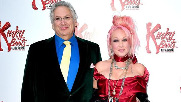 Harvey Fierstein and Cyndi Lauper attend the opening night of Kinky Boots