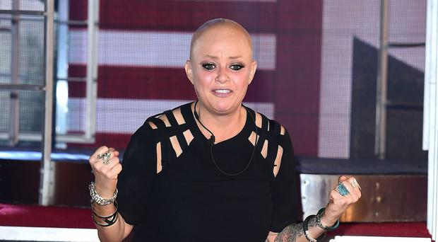 Gail Porter is evicted from the Celebrity Big Brother house at Elstree Studios