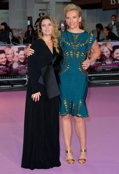 Drew Barrymore and Toni Collette at the European premiere of Miss You Already in London