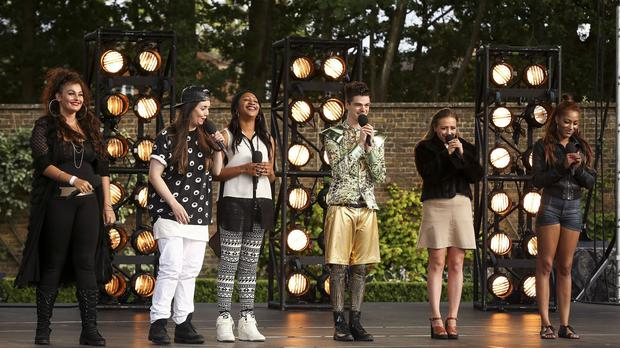 X Factor hopefuls at the boot camp country house (Syco/Thames TV/PA)