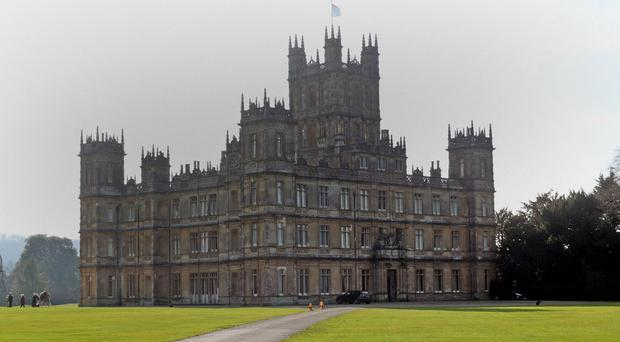 The last season of Downton Abbey, filmed at Highclere Castle, starts off with a fox hunt