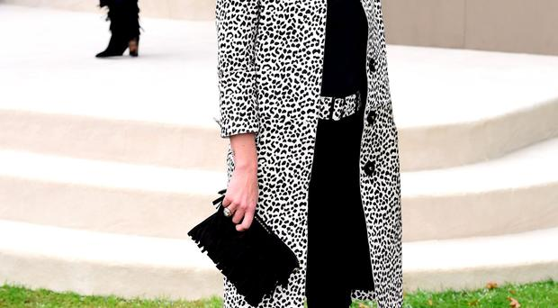 Kate Moss at Burberry show
