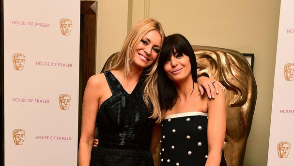 Tess Daly and Claudia Winkleman appear together with Alan Carr