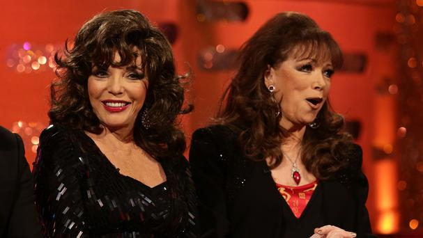 Dame Joan Collins (left) has paid tribute to her sister Jackie (right)