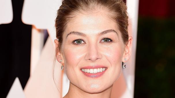 Rosamund Pike who plays Lady Penelope in the rebooted Thunderbirds Are Go