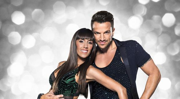Peter Andre with his dance partner Janette Manrara