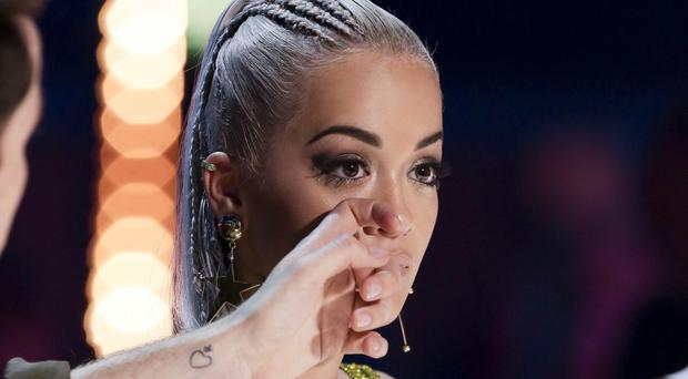 Rita Ora cries during the audition stage for ITV1 talent show The X Factor (SYCO/THAMES TV/PA)