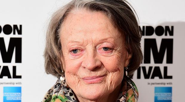 Dame Maggie Smith attending a photocall for The Lady In The Van at Claridge's, London
