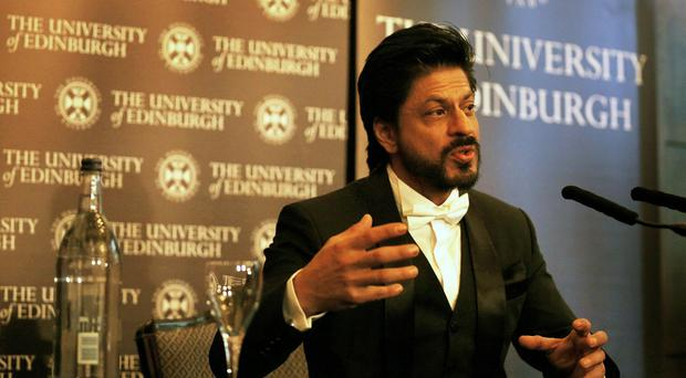 Bollywood star Shah Rukh Khan receives an honorary degree from the University of Edinburgh