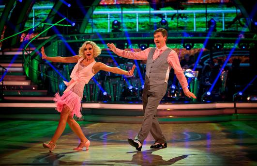 Daniel O'Donnell with dance partner Kristina Rihanoff earlier in the series
