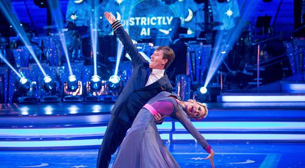Daniel O'Donnell and his dance partner Kristina Rihanoff during a live recording for this year's series of Strictly Come Dancing