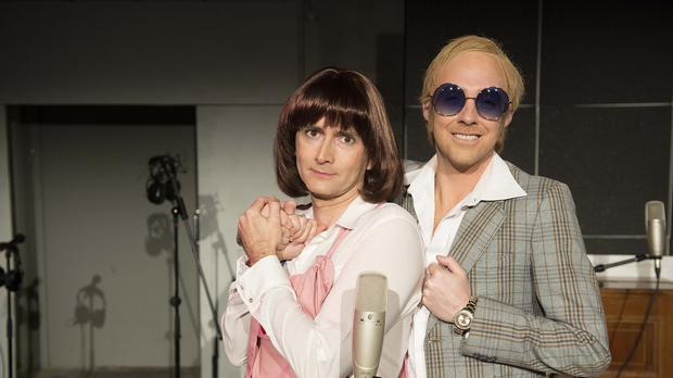 Kaiser Chiefs' Ricky Wilson as Elton John, and former Doctor Who star David Tennant as Kiki Dee, as they will kick off Sky 1's latest show in style with a re-enactment of the classic duet, Don't Go Breaking My Heart