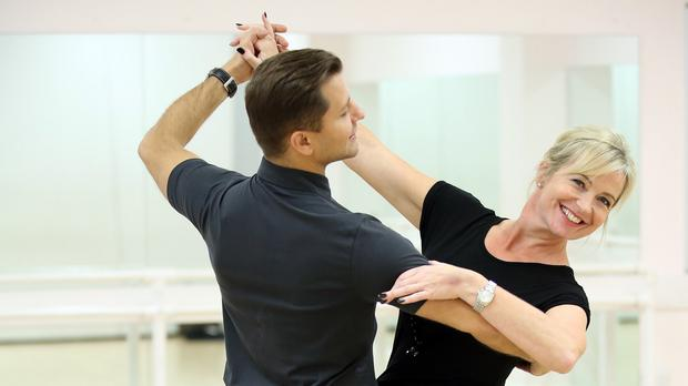 Carol Kirkwood and her dance partner Pasha Kovalev