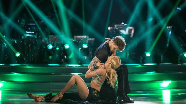 Aliona Vilani and Jay McGuiness during a dress rehearsal recording for this year's series of Strictly Come Dancing on BBC1