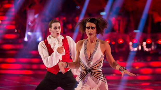 Kirsty Gallacher and her dance partner Brendan Cole.