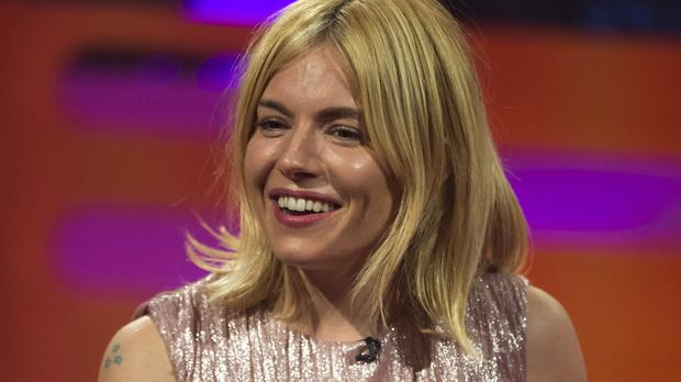 Sienna Miller during filming of the Graham Norton Show