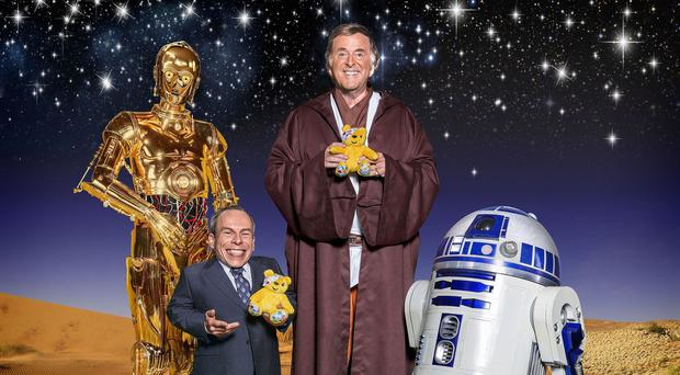 Appeal night will feature an exclusive Star Wars sketch with C3PO and R2-D2 alongside Star Wars actor Warwick Davis and presenter Terry Wogan