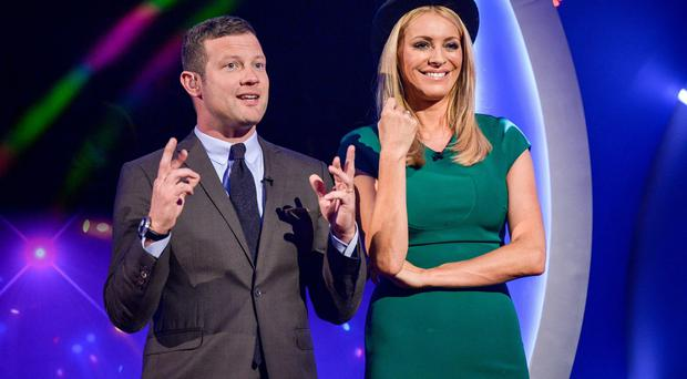 Dermot O'Leary, who stepped in at the last minute for Terry Wogan, with co-host Tess Daly