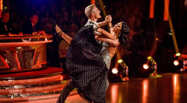 Jeremy Vine performs with his partner Karen Clifton