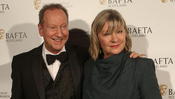 Bill Paterson and Hildegard Bechtler arriving at the Scottish Baftas