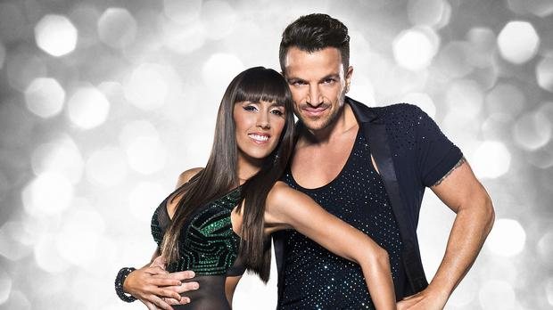 Peter Andre with his dance partner Janette Manrara (BBC/PA)