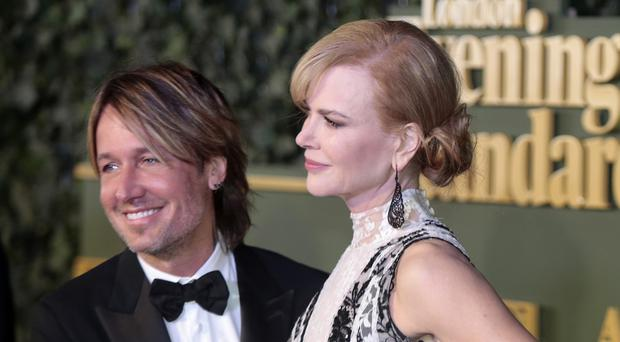 Keith Urban and Nicole Kidman attending the London Evening Standard Theatre Awards.