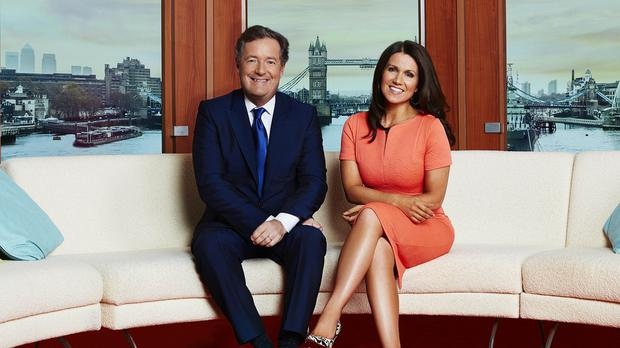 Good Morning Britain hosts Piers Morgan and Susanna Reid (ITV/PA)