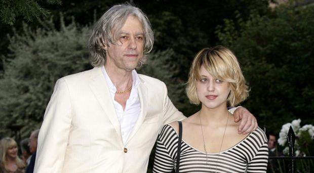 Sir Bob Geldof and his late daughter Peaches pictured in 2009