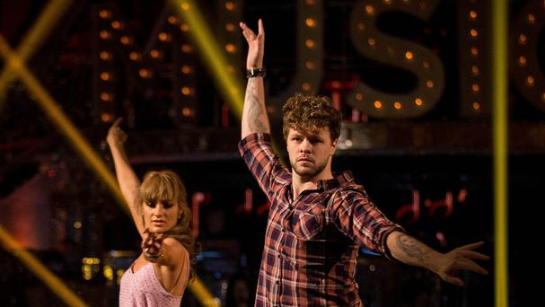 Jay McGuiness and Aliona Vilani during a dress rehearsal for Strictly Come Dancing (BBC)