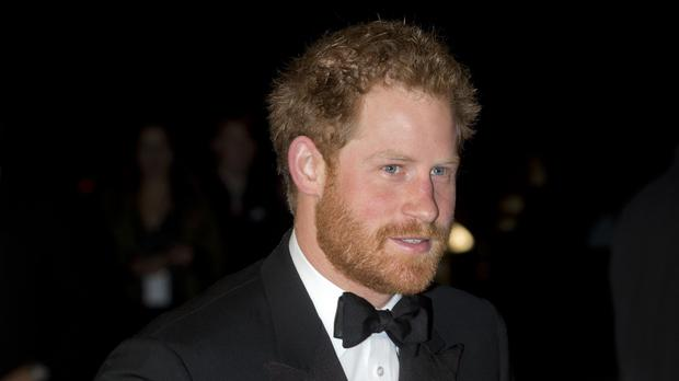 Prince Harry arriving for the Royal Variety Performance