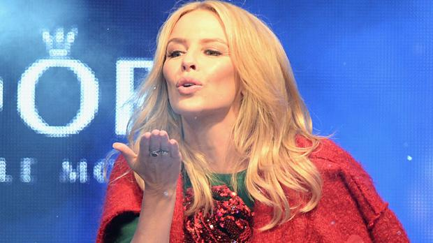 Kylie Minogue at the Oxford Street Christmas lights switch on in central London