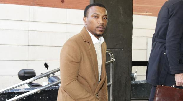 Ashley Walters denies racially abusing a hotel receptionist and threatening her manager