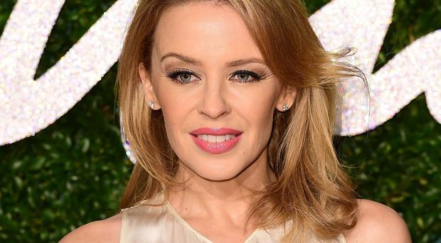 Kylie Minogue met boyfriend Joshau Sasse on the set of his TV series Galavant