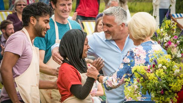 Nadiya Hussain was crowned champion in the final of the Great British Bake Off, which was the most-watched TV programme in 2015 (BBC/PA)