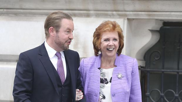 Cilla Black and her son Robert Willis