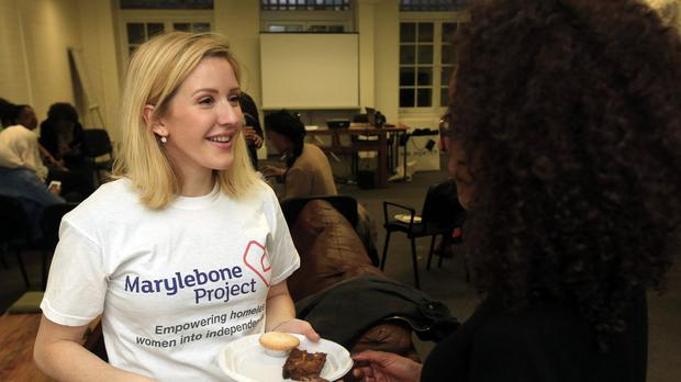 Ellie Goulding, Patron of the Church Army's Marylebone Project, volunteering at their centre in London, which aims to help homeless and vulnerable women.