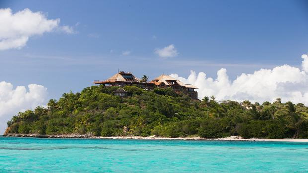 Sir Richard Branson lives on Necker Island