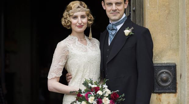 Lady Edith married Bertie Pelham in the emotional finale to Downton Abbey