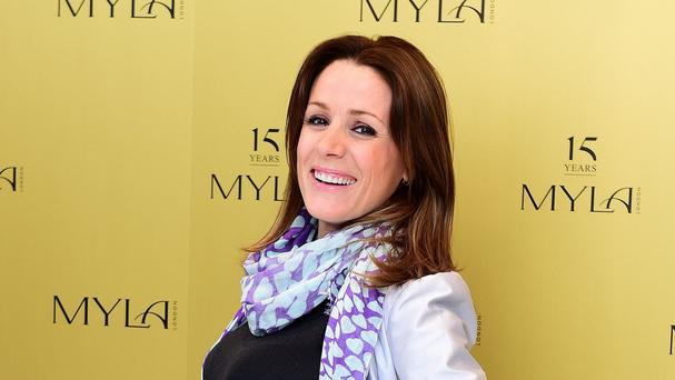 Natalie Pinkham is expecting a baby daughter