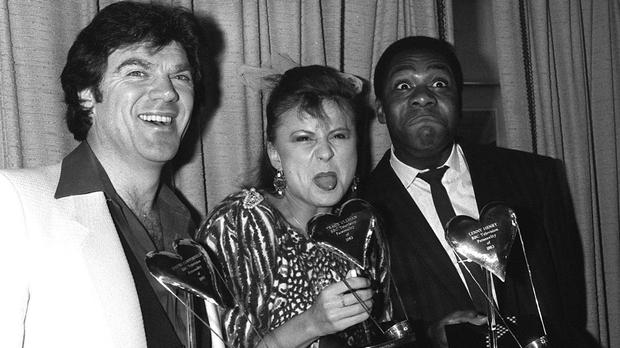 David Copperfield, left, with Tracey Ullman and Lenny Henry in London in 183 after they were voted joint BBC TV Personalities