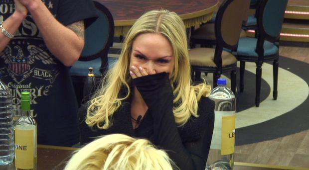 The moment Celebrity Big Brother contestant Kristina Rihanoff announced to her fellow housemates she is almost three months pregnant (Channel 5/PA)