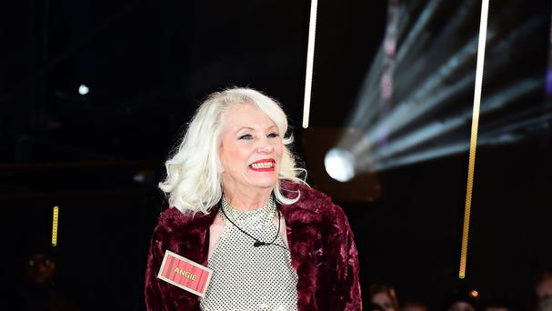 Angie Bowie arriving at the Celebrity Big Brother house before news emerged of her ex-husband's death