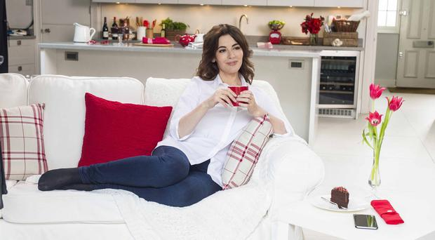 Nigella Lawson in her new TV advert for Typhoo Tea