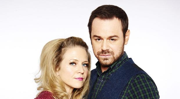 Kellie Bright and Danny Dyer play Linda and Mick Carter in EastEnders (BBC/PA)