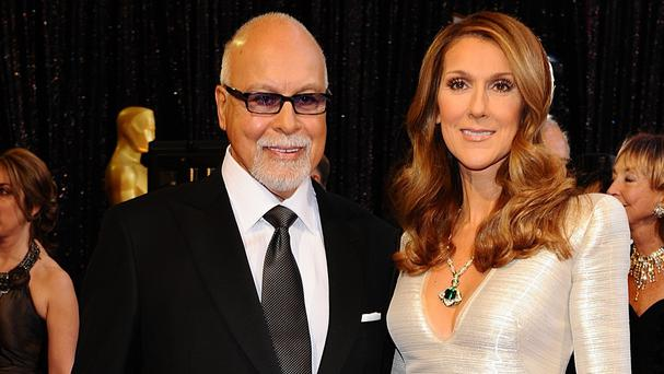 Rene Angelil with wife Celine Dion