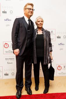 Sir Kenneth Branagh with Dame Judi Dench at The London Critics' Circle Film Awards
