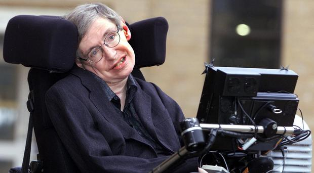 Professor Stephen Hawking say the Earth will be under threat from man-made challenges