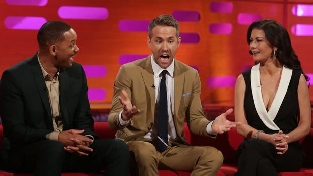 Hollywood stars Will Smith, Ryan Reynolds and Catherine Zeta-Jones appear on the Graham Norton Show